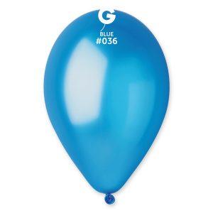 Balónik metalický karibská modrá 26 cm
