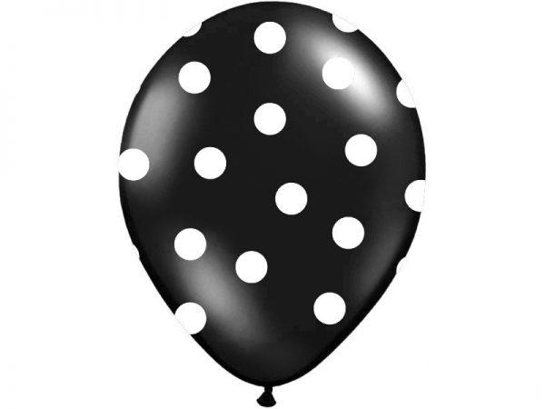 Bodkovaný balónik čierny-2