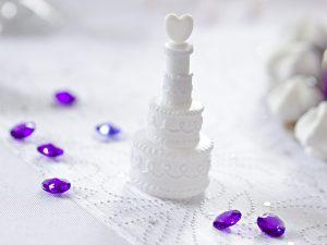 Bublifuk v tvare svadobnej torty