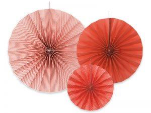 Dekoračné rozety červené 3 ks