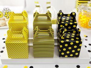 Dekoratívne boxy na sladkosti - Včielka 6 ks