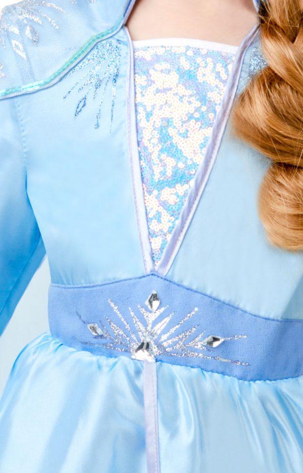 Detský deluxe kostým - Elsa (šaty) Veľkosť - deti: XS-4