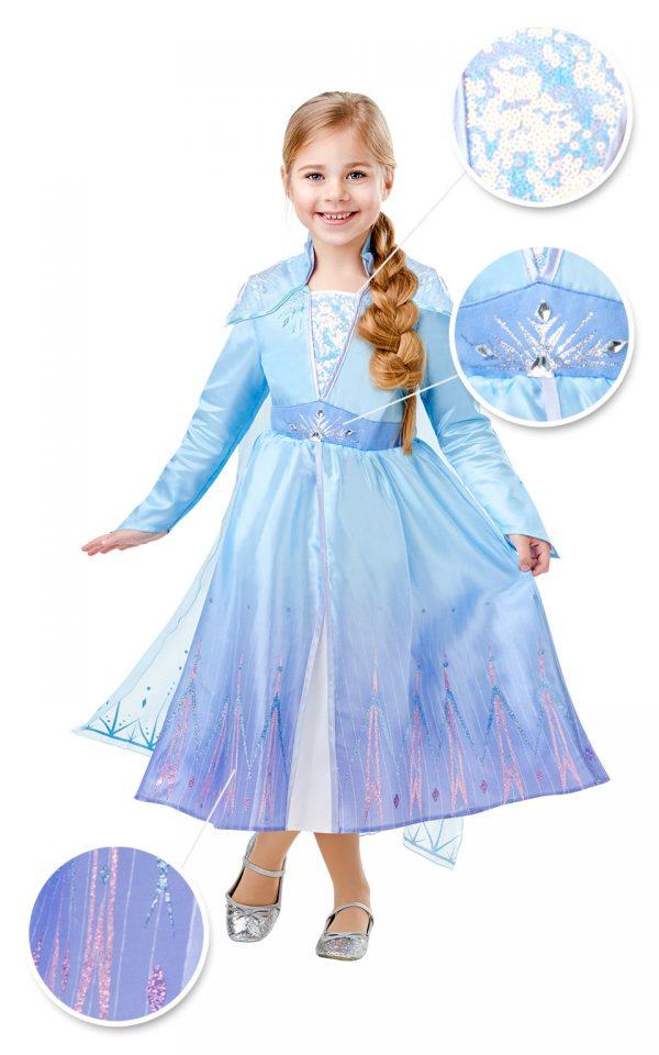Detský deluxe kostým - Elsa (šaty) Veľkosť - deti: XS-5