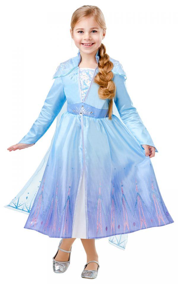 Detský deluxe kostým - Elsa (šaty) Veľkosť - deti: XS