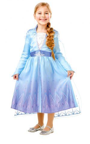 Detský kostým - Elsa (šaty) Veľkosť - deti: M