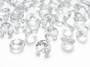 Diamantové konfety priehľadné 20mm