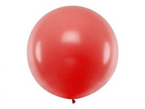 Guľatý latexový Jumbo balón 1m červený