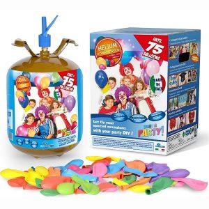 Hélium na 75 balónikov + balóny