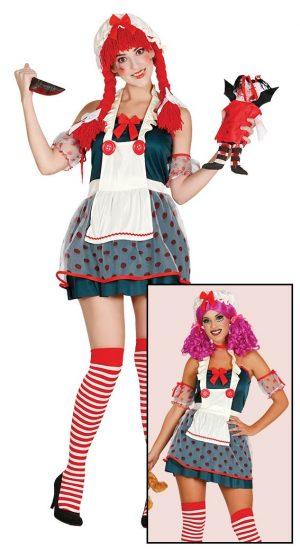 Kostým Handrová Bábika Veľkosť - dospelý: M