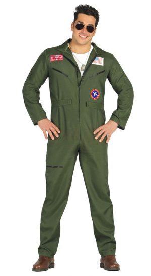 Kostým vojenského pilota Veľkosť - dospelý: XL