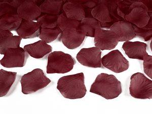 Lupene ruží tmavo červené 500 ks