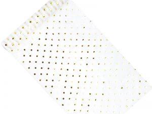 Organza - Biela so zlatými bodkami