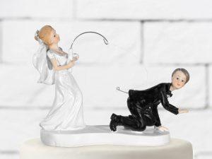 Ozdoba na tortu - Ženích na udici