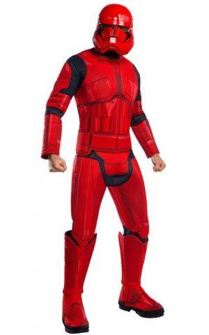 Pánsky deluxe kostým - Red Stormtrooper (Star wars) Veľkosť - dospelý: STD
