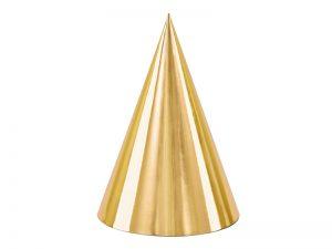 Párty klobúčiky - zlaté 6 ks