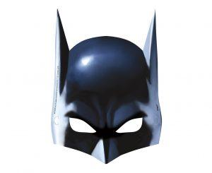 Papierové masky Batman 8 ks