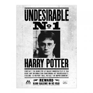 Plagát Undesirable No.1 - Harry Potter