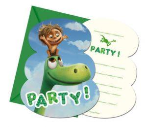 Pozvánky Dobrý dinosaurus 6 ks