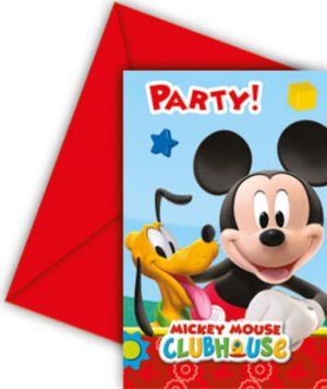 Pozvánky Mickey Mouse 6 ks
