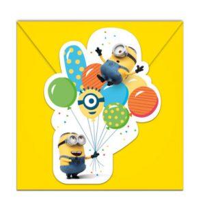 Pozvánky Mimoni Party 6 ks