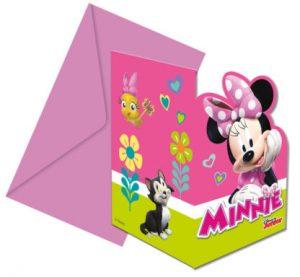 Pozvánky Minnie 6 ks