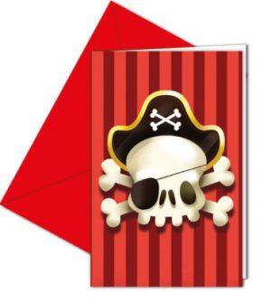 Pozvánky Piráti 6 ks