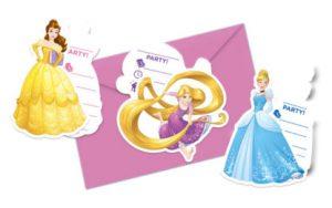 Pozvánky Princezné - mix vzorov 6 ks