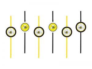 Slamky s motívom Včielka 6 ks