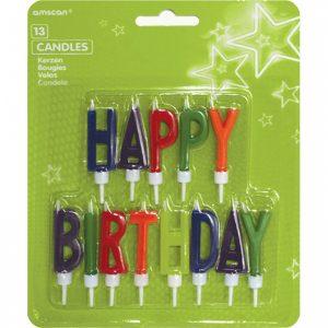 Sviečky Happy Birthday - písmená