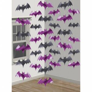 Visiaca dekorácia v tvare netopierov 6 ks