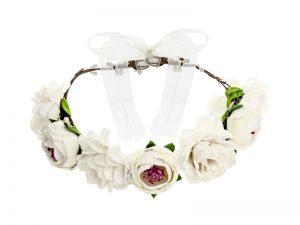 Čelenka s bielymi kvetmi