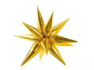 Fóliový balón 3D Zlatá Hviezda 95 cm