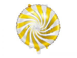 Fóliový balón bielozlatý cukrík 35 cm