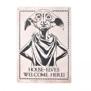 Plechová ceduľa Harry Potter - Dobby