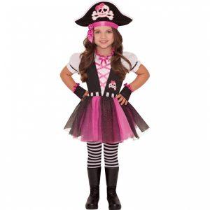 Detský kostým - Ružová pirátka