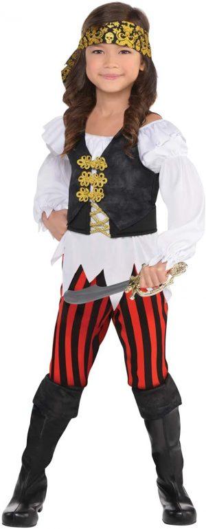 Detský kostým - Zlatá pirátka