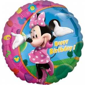 Fóliový balón - Minnie Happy Birthday