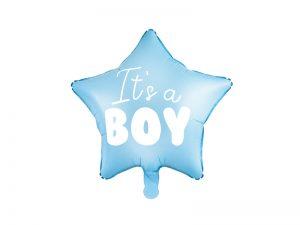 Fóliový balón modrá hviezda - It's a boy