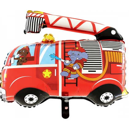 Fóliový balón - Hasičské auto pes