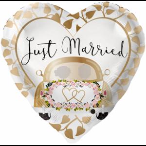 Fóliový balón Just married - Auto