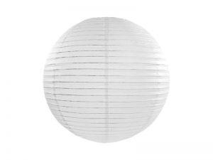 Okrúhly papierový lampión biely 25 cm