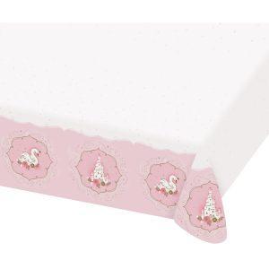 Papierový obrus - Ružový zámok/ Labuť 120 x 180 cm
