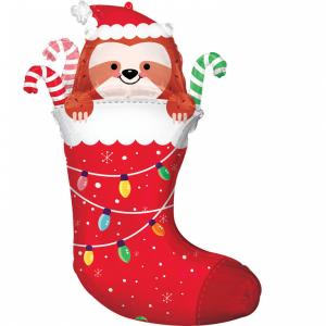 Fóliový balón - Vianočná čižma s leňochodom