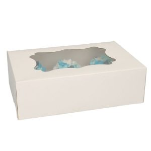 Funcakes Dekoračné krabice na muffiny a cupcakes - biele 3 ks