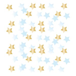 Konfety - 1. narodeniny modro zlaté hviezdičky 14 g
