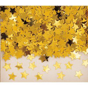 Konfety - zlaté hviezdy pravidelné 14 g