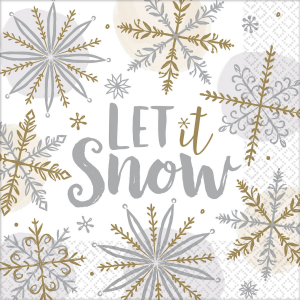 Servítky - Let it snow 33 x 33 cm