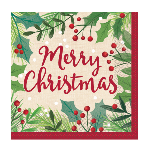 Servítky - Merry Holly Day 33 x 33 cm