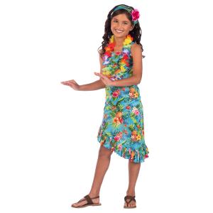 Kostým Havaj modrý - dievča Veľkosť - deti: 10 - 12 rokov