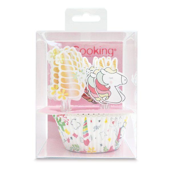 Scrapcooking Košíčky na pečenie a ozdoby na cupcakes sada - Jednorožec 24 ks